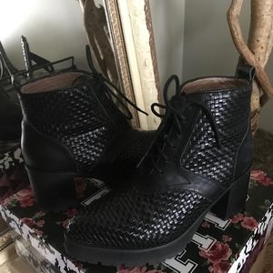 Jeffrey Campbell Woven Leather Boot